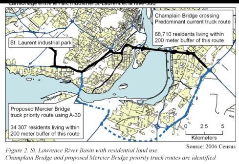 Alternate trucking route in Blue